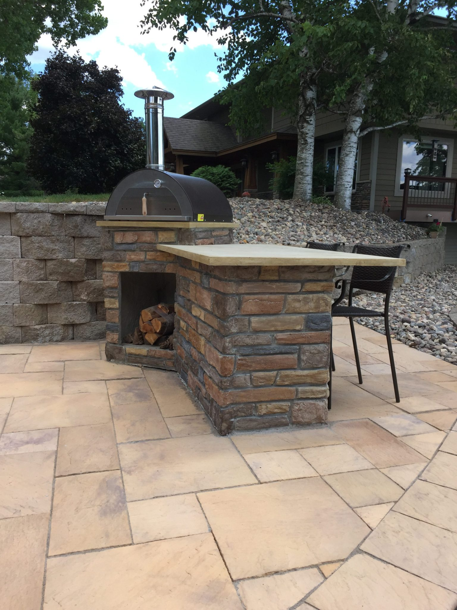 Pizza Oven and Outdoor Bar